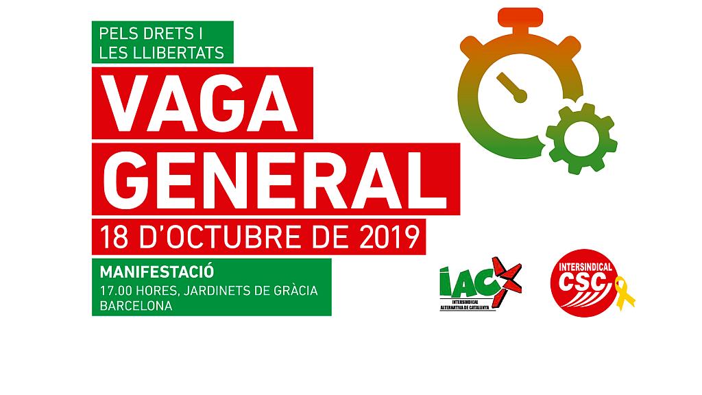 Photo of  COMUNICAT   Ràdio Hostafrancs dona suport a la vaga general de divendres 18 d'octubre
