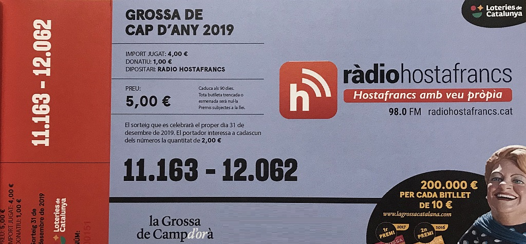 Photo of Juga la sort amb el barri participant amb La Grossa de Ràdio Hostafrancs